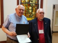 Rev. Harvey and Dick Tafel; 50 & 55 years of service