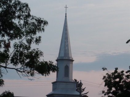 Evening shot of nearby chapel